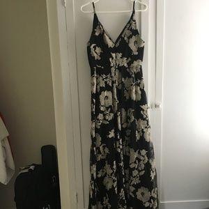Black Floral Calvin Klein Dress